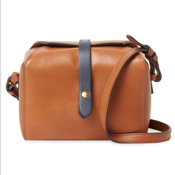 7276eb8a7b4d Celine Box-On Strap Camel Leather Crossbody Bag